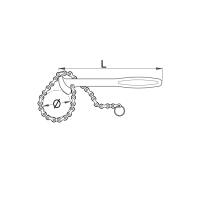 UNIOR ključ za filter sa lancem 206/2