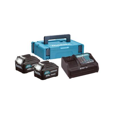 Makita 2x baterija BL1040B 10,8V + punjač + kofer