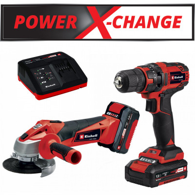 Einhell set aku bušilica i brusilica Power X-Change TC-TK 18 Li Kit