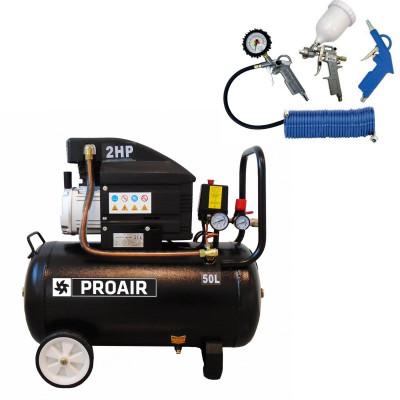 ProAir klipni kompresor za zrak SBN-BM1042/24L BLACK LINE sa 4-dijelnim pneumatskim setom