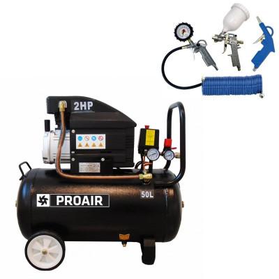 ProAir klipni kompresor za zrak  SBN-BM1047/50L BLACK LINE sa 4-dijelnim pneumatskim setom