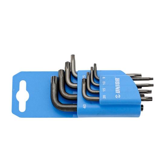 UNIOR torx ključevi 9-40 na plast. stal. 220/7TXNPH