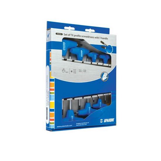 UNIOR torx ključevi 10-45 sa T-ručicom u kar. kut. 193TXCS
