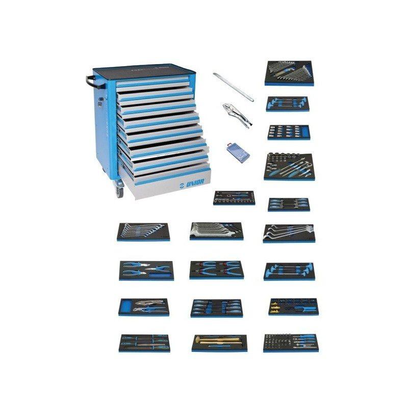 Unior kolica za alat 940EV4 sa alatom za polju. mašine