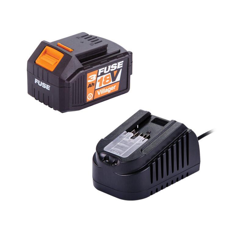 Villager set punjač i baterija FUSE 18V 3Ah